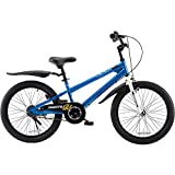 RoyalBaby Kids Bike Boys Girls Freestyle BMX Bicycle With Kickstand Gifts for Children Bikes 20 Inch Blue