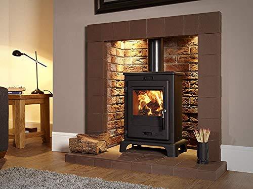 Fashion Einstellbare Bein Holzbrenner, Esche ist ein sehr einfacher Satz von Smart-Holz kann 4,9 kW Wärme erzeugen,Black