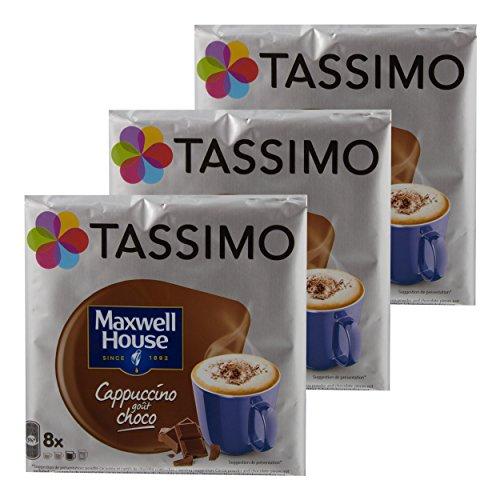 Tassimo Maxwell House Cappuccino Choco, Kaffee, Kaffeekapsel, T-Disc, Schokolade, 24 Portionen