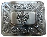 Scottish Kilt belt buckle #6 Antiqued Black Finish (Antiqued Black)