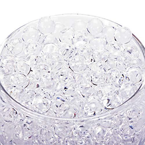 Bymore 60000 Clear Water Gel Jelly Beads Vase Filler Beads,Vase Fillers for Floating Pearls, Floating Candle Making, Wedding Centerpiece, Floral Arrangement (Transparent)
