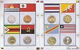 Prophila Collection Naciones Unidas - Nuevo York 1445-1452 Sheetlet (Completa.edición.) 2015 Banderas y Monedas (Sellos para los coleccionistas) Monedas y Billetes en Sello