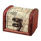 F Fityle Cofre del Tesoro de Madera Decorativo Fotos Joyas Monedas Hobby Organizador Caja Contenedor Decorativo Casa de Juegos Accesorios