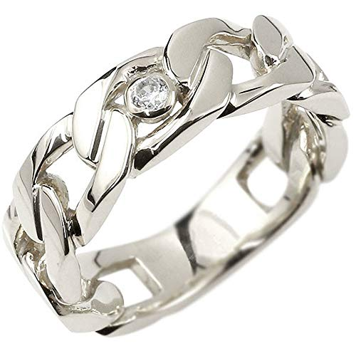 [アトラス]Atrus リング メンズ sv925 スターリングシルバー ダイヤモンド 一粒 キヘイ 鎖 幅広 指輪 トレジャーハンター 22号