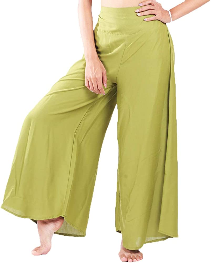 Womens Palazzo Pants Trousers Flared High Low Waist Wide Leg Yoga USA Camouflage