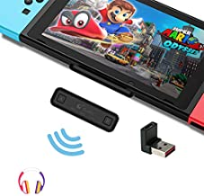 GuliKit Route Air Bluetooth Adapter for Nintendo Switch/ Switch Lite PS4 PC, Dual Stream Bluetooth Wireless Audio Transmitter with aptX Low Latency Connect Your AirPods Bluetooth Speakers Headphone