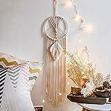Nicole Knupfer Makramee Traumfänger, Wandbehang, Boho Handgemachte Traumfänger für Schlafzimmer Wohnzimmer Dekoration