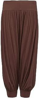 GirlzWalk Kids Harem Loose Baggy Sports Dancing Pants Girl's Harem Children Trouser (Brown, 13 Years Old)