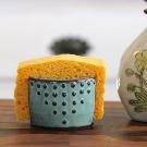 Kitchen Sponge Holder Ceramic Card Holder Aqua Mist | Etsy