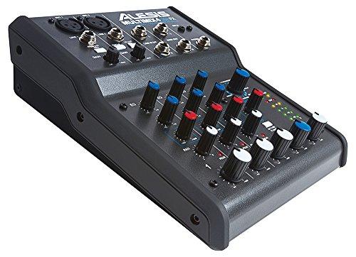 Alesis MultiMix 4 USB FX – kompakter 4-Kanal Studiomixer mit integrierten Effekten und USB Audio Interface für Heimstudioaufnahmen