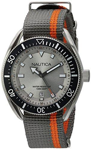 Nautica Orologio Analogico Quarzo Uomo con Cinturino in Tessuto NAPPRF003