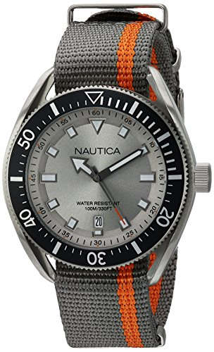 Nautica Reloj Analógico para Hombre de Cuarzo con Correa en Tela NAPPRF003