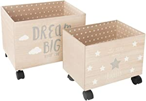 Atmosphera Créateur d'intérieur Set of 2 suitcases, Trunks on Wheels, containers for Toys