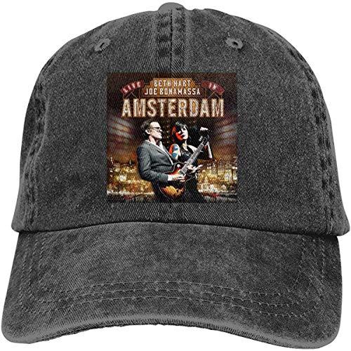 SHWPAKFA Beth Hart Live in Amsterdam Men Womens Music Cowboy Hat Adjustable Casquette Cap Black,Black,One Size