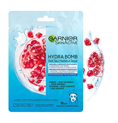Garnier Skin Active Mascarilla de Tejido HydraBomb, Hidratante y Revitalizante, para Pieles Deshidratadas - 5 unidades