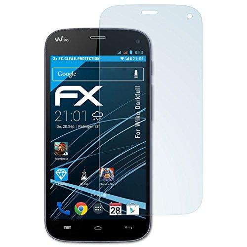 atFolix Schutzfolie kompatibel mit Wiko Darkfull Folie, ultraklare FX Bildschirmschutzfolie (3X)
