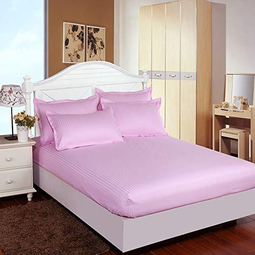 haiba Sábana bajera lisa de alta calidad, suave y acogedora, ropa de cama, cama tamaño king, color rosa, 150 x 200 + 25 cm