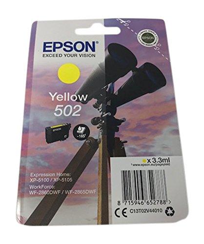 Cartuchos de impresoras para Epson Expression Home xp5100, xp5105, WorkForce wf2860dwf, wf2865dwf, color amarillo