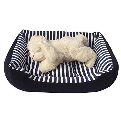 Hundebett Hundekorb wasserdicht im Sockelkissenhaus Komfortabel und weich für Haustiere Korb für Katzen Welpen Kleine und mittelgroße Hunde,Blue