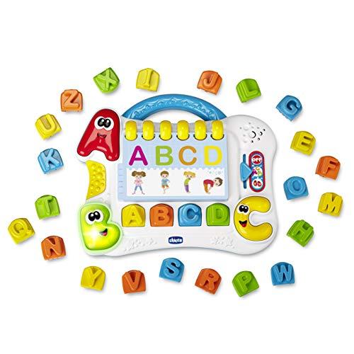 Chicco Lettere in Movimento Edu4You, Gioco Educativo Elettronico con Frasi e Canzoni per Imparare le Lettere dell'Alfabeto, Ispirato al Metodo Montessori - Giochi Bambini 3-6 Anni