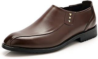 [ZHQ] シューズ 革 通気性 紳士 靴 防水 軽量 シューズ アウトドア 革靴