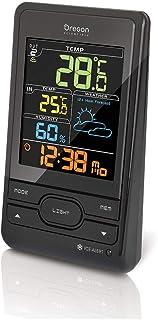Oregon Scientific BAR206SX Estación meteorológica con temperatura interior/exterior y humedad interior, alerta hielo, pantalla LCD en colores, color negro