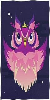 senya Bath Towel Decorative Vector Owl Soft Hand Towels for Bathroom Spa Gym Sports 30