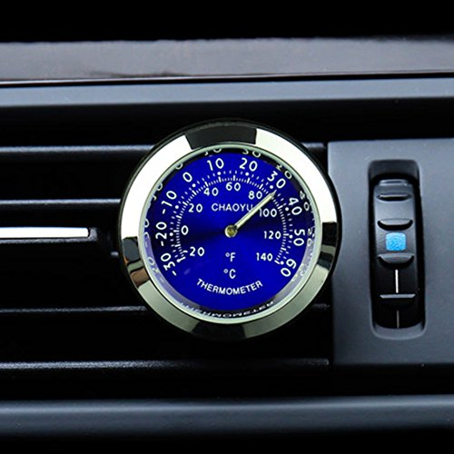 Txian Car Thermometer Air Vent Oldtimer Temperaturanzeige (38x38x17mm)