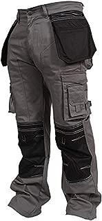 Newfacelook Mens Cargo Trousers Working Pants Cordura Knee Pockets