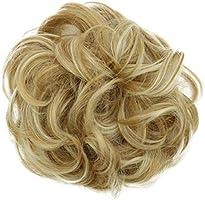 PRETTYSHOP Haarstukje haarelastiek updos bruidskapsels rubberen ring VOLUMINOUS krullend rommelig dutt