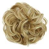 PRETTYSHOP Postizo Coletero Peinado alto, VOLUMINOSO, rizado, Moño descuidado mezcla rubia # 27H613 G20E