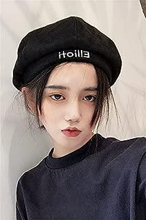 Generic Korean version of Harajuku embroidery letter beret women girls lady autumn and winter Beautiful influx of British men suede octagonal pumpkin painter cap