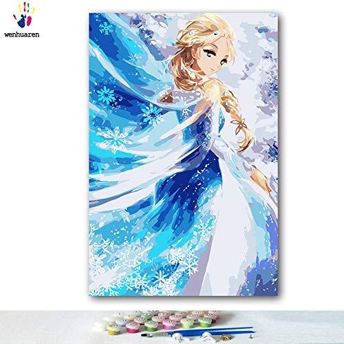 Malen nach Zahlen Kits 30,5 x 45,7 cm Leinwand-Ölgemälde für Kinder, Studenten, Erwachsene, Anfänger mit Pinsel und Acryl-Pigment