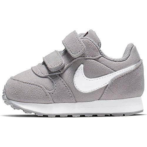 Nike MD Runner 2 PE (TDV), Pantofole a Collo Basso Unisex-Bimbi 0-24, Multicolore (Atmosphere Grey/White 000), 19 EU
