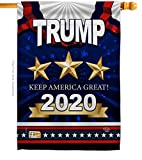 Keep America Great Trump Gartenhaus Flagge – Kit Patriotic Vote President Donald Wahl Support United States American Hausflagge, 71,1 x 101,6 cm (28 x 40 Zoll) Thick Fabric Nur große Flagge.