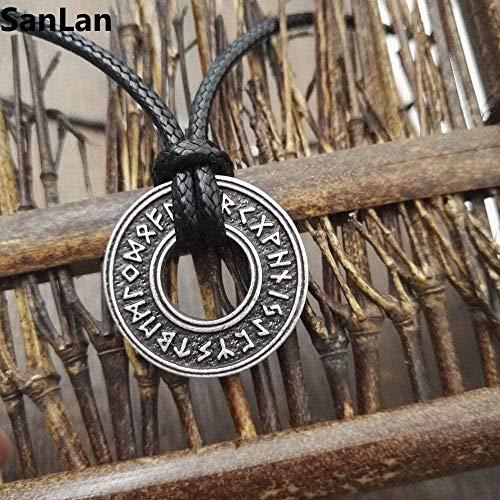 LKLFC Collar Mujer Collar Hombre Collar 1 Pieza Amuleto The Runes Rune Collar Joyas y Accesorios Collar Joyas Rune Collares Colgante Collar Niñas Niños Regalo