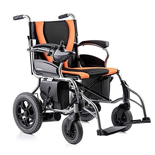 TWL-Wheelchair Faltbarer Tragbarer Elektrischer Rollstuhl, Behinderter Intelligenter Roller-Elektroantrieb mit Doppelfunktion für Ältere Menschen Oder Verwendet Als Manueller Rollstuhl