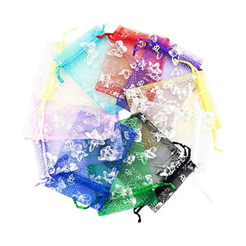 SUPVOX Bolsas de organza transparentes favor saco presente de joyas para la...
