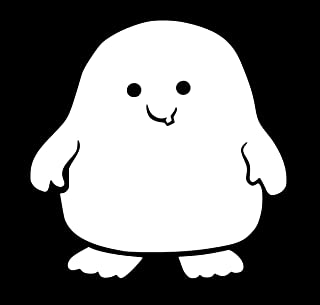 UR Impressions Doctor Who Adipose Decal Vinyl Sticker Graphics for Cars Trucks SUV Vans Walls Windows Laptop|White|5.5 Inch|URI140