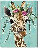 Bougimal Pintar por Numeros Adultos, DIY Pintura por Números Giraffe sin Marco de 40 X 50 cm