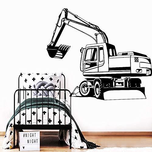 Tong99 Afneembare graafmachine tapijt PVC muursticker kinderkamer jongen sticker vinyl kinderen sticker poster pelleeuse muursticker 57 * 65cm