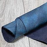 CURTIDOS PEANES Piel de Vaca - FANTASÍA - Estándar - Azul Jaspeado 126x88 cm - Grosor 1,1-1,4mm