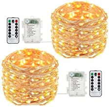 buways Fairy Lights,2-Pack Battery Operated Waterproof Warm White 50 LED Fairy String Lights,16.4ft Copper Wire Light with...