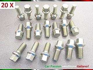 Kit 20 Bulloni Ruota Compatibili Con MAZDA 3 5 6 CX5 CX7 MX3 MX5 MX6 XEDOS 6 9 MPV BT50 Fissaggio Ruote Gomme Cerchi In Acciaio e In Lega in Ferro Farad MADE IN ITALY