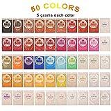 DEWEL 50er Epoxidharz Farbe, Metallic Farbe Resin Farbe Seifenfarbe Set Pigment, Mica Pulver Powder...