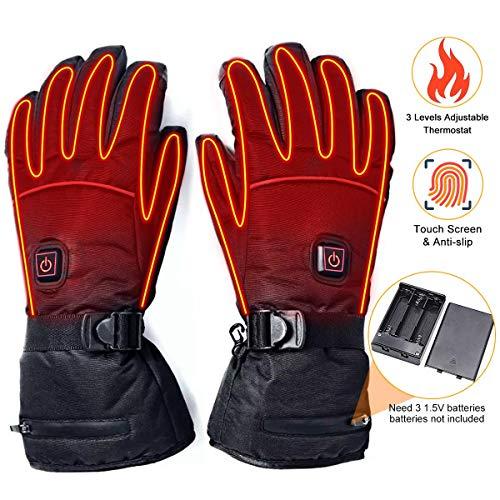 IrishTech Beheizte Handschuh,Elektrische Heizung Handschuhe, Mann Frau elektrische Thermo GlovesWinterhandschuhe mitFreien Kletternwarme...