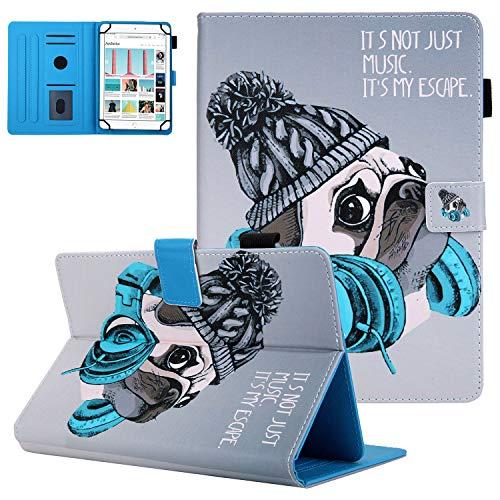UGOcase Universal-Schutzhülle für Tablets mit 10 Zoll (25,4 cm), 24,6 cm, 25,7 cm, 25,7 cm, 25,9 cm, 26,7 cm (9,7 Zoll), 25,9 cm (10,5 Zoll), Galaxy Tab, Fire HD 10), Music Dog