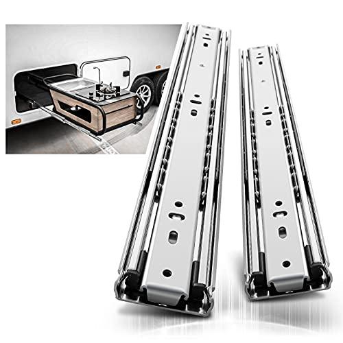 AOLISHENG Glissières tiroir robustes 1000mm, Coulisse de tiroir à roulement à billes à extension complète Rail, Capacité de charge 68 kg 1 paire
