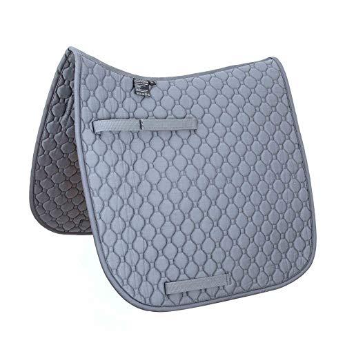 Merauno® Schabracke - Manta para silla de montar (algodón suave, duradero), diseño clásico (DR, color gris)