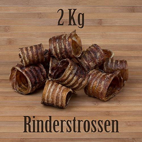 2 Kg Rinderstrossen Rinderluftröhren Kausnack Kauartikel - wie Pferdestrossen Dörrfleisch
